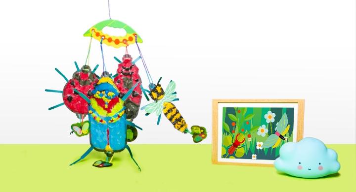 Kit créatif - Les insectes - Version Verte
