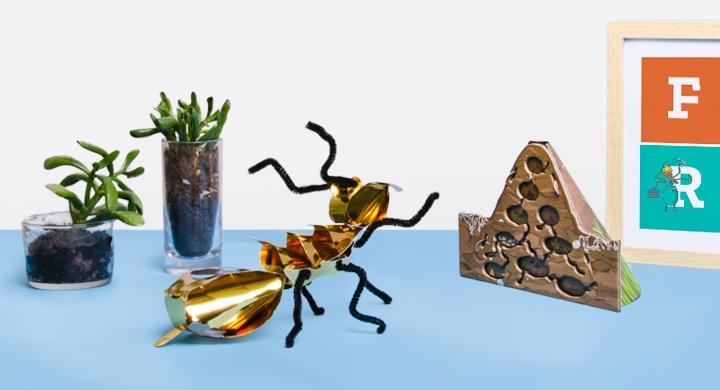 Kit créatif - Les insectes - Version Orange