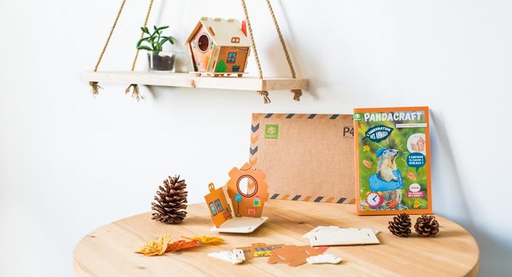 Kit créatif - L'hibernation des animaux - Version orange